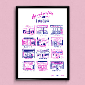 Launderettes of London A3 Print