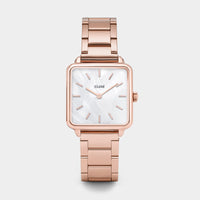 CLUSE La Tétragone Three Link Rose Gold/White Pearl CL60027S - Reloj
