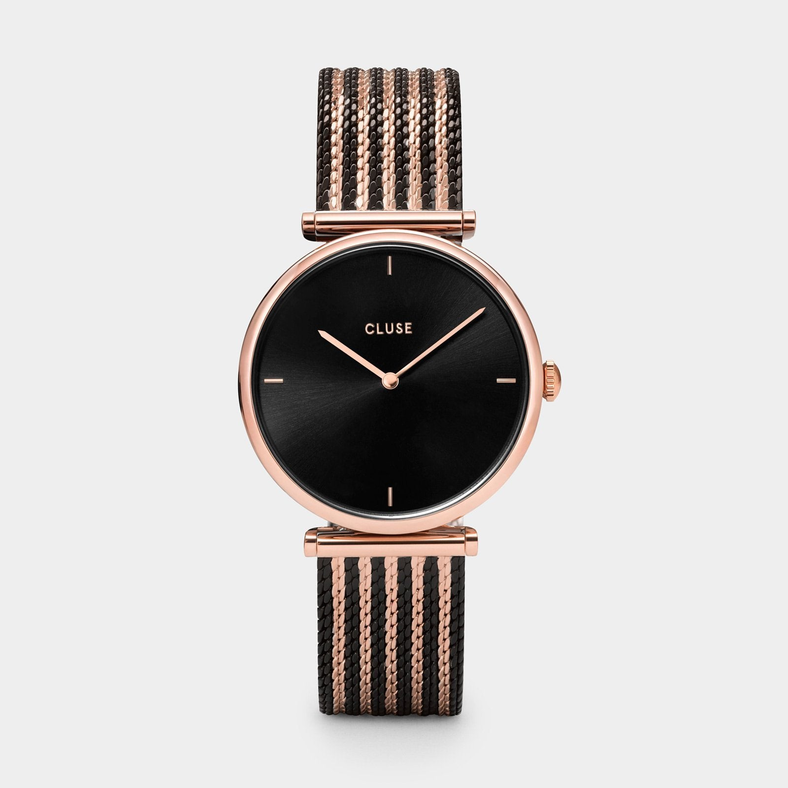 CLUSE Triomphe Mesh Rose Gold Black/Black/Rose gold CW0101208005 - Reloj