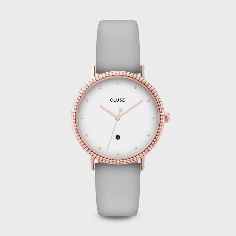 CLUSE Le Couronnement Rose Gold White/Soft Grey CL63001 - Reloj