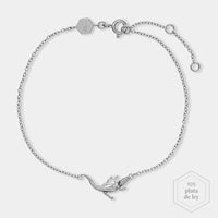 CLUSE Force Tropicale Silver Alligator Chain Bracelet CLJ12021 - Pulsera
