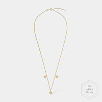 CLUSE Essentielle Gold Three Hexagon Charms Necklace CLJ21012 - Collar