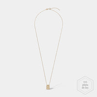 CLUSE Force Tropicale Gold Twisted Chain Tag Pendant Necklace CLJ21014 - Collar