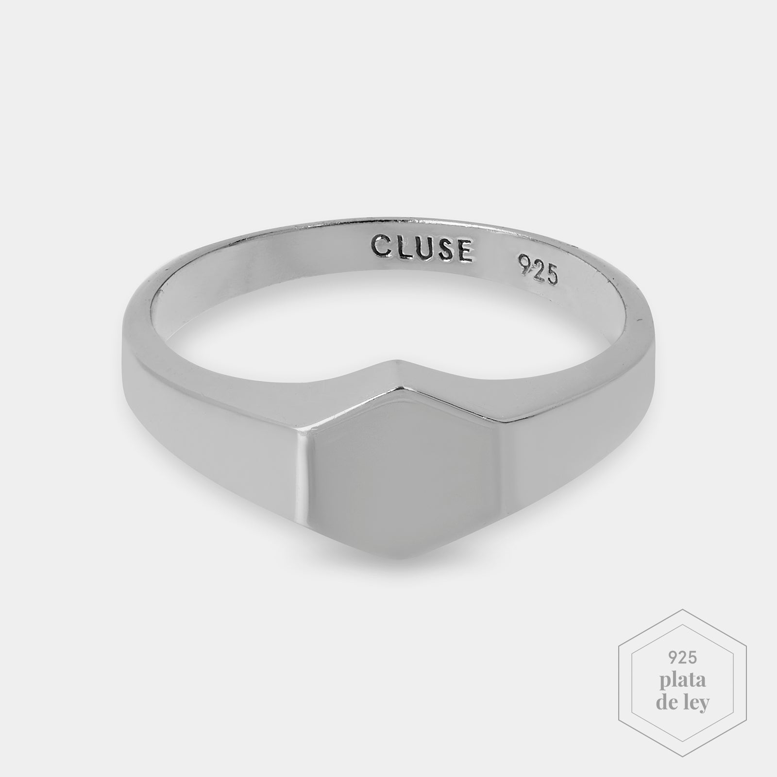 CLUSE Essentielle Silver Hexagon Ring 52 CLJ42011-52 - Ring size 52