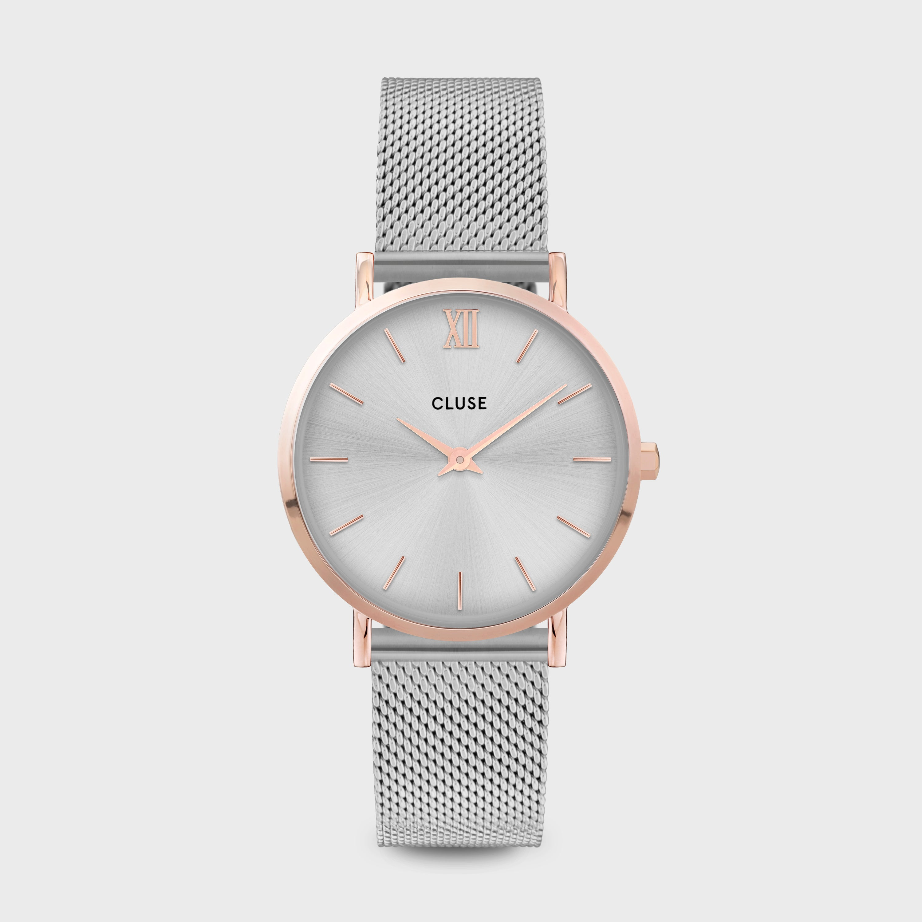 CLUSE Minuit Mesh, Rose Gold, Silver/Silver CW0101203004 - Reloj