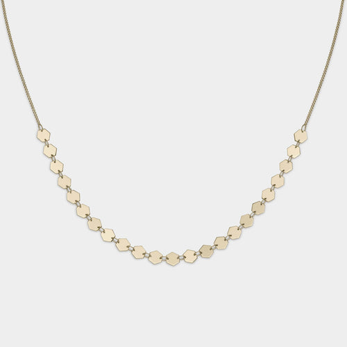 Image: CLUSE Essentielle Gold All Hexagons Choker Necklace CLJ21003 - Collar