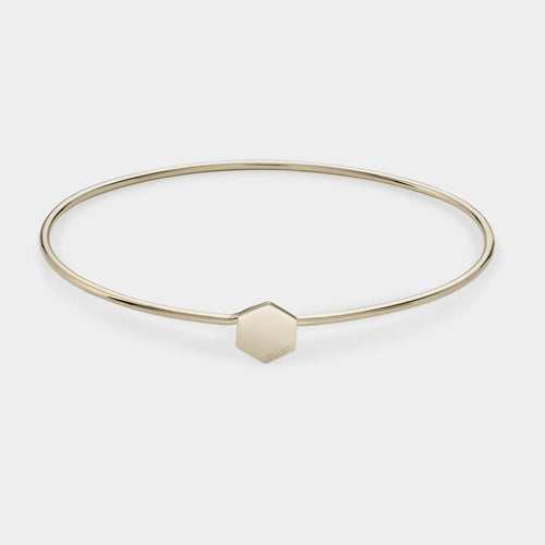 Image: CLUSE Essentielle Gold Hexagon Bangle Bracelet CLJ11001 - Pulsera