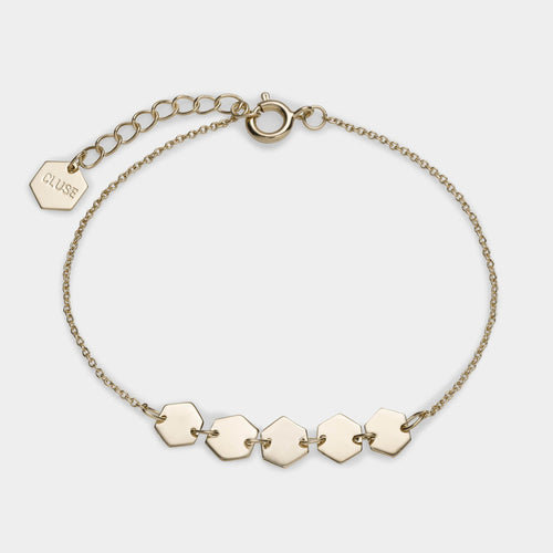 Image: CLUSE Essentielle Gold Hexagons Chain Bracelet CLJ11007 - Pulsera