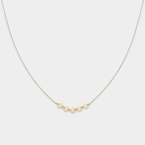 Image: CLUSE Essentielle Gold Hexagons Necklace CLJ21001 - Collar