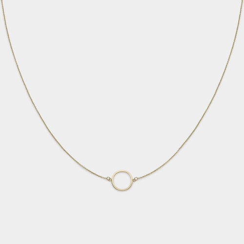 Image: CLUSE Essentielle Gold Open Circle Choker Necklace CLJ21002 - Collar