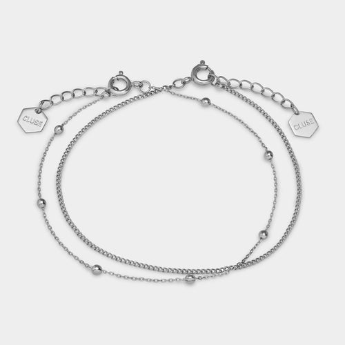 Image: CLUSE Essentielle Silver Set of Two Fine Bracelets CLJ12010 - Pulsera