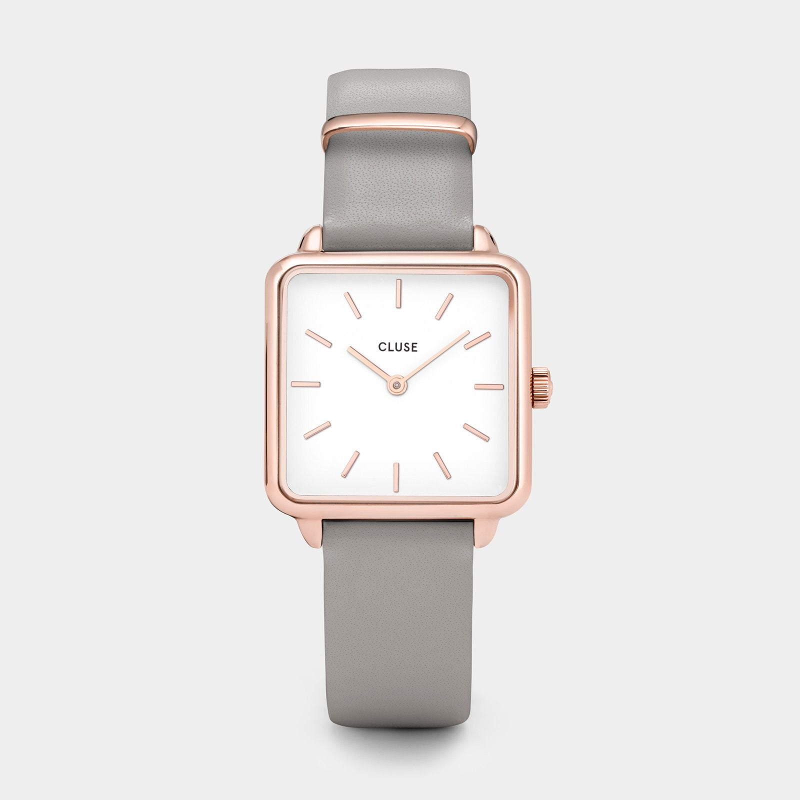 CLUSE La Tétragone Rose Gold White/Grey CL60005 - Reloj