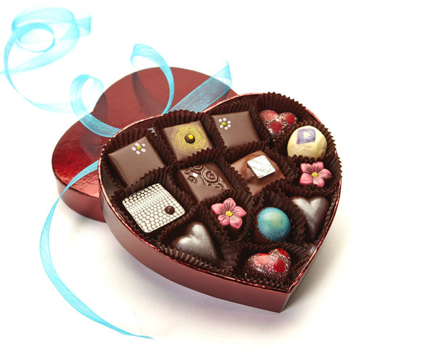 Small Heart Valentine's Assortment of Gourmet Chocolates from Chocolate Maya