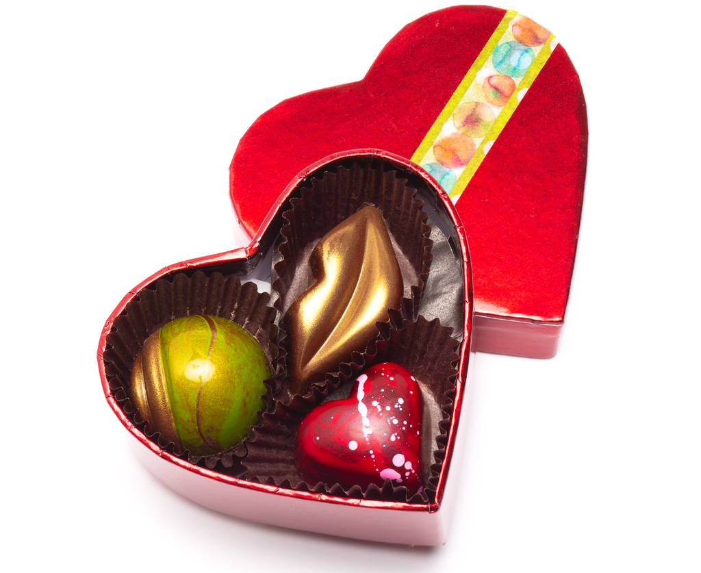 Box of Three Valentine's Assortment of Chocolates from Chocolate Maya in Santa Barbara, California