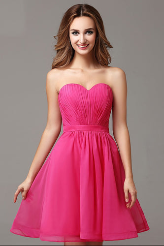Stunning Strapless Pleated Sweetheart Neckline A-Line Layered Cocktail Dress