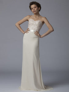 Strapless Sweetheart Beaded Empire Long Dress With An Eye-Pleasing Look