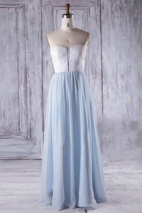 Strapless Sweetheart Two-Color A-Line Bridesmaid Dress
