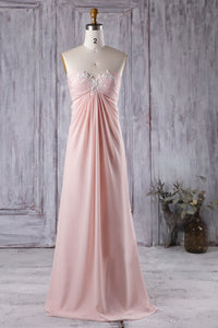 Sweetheart Lace Appliqued Empire Chiffon Bridesmaid Dress