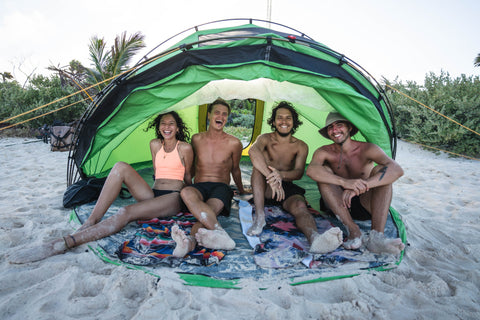 M4 Tent at the beach