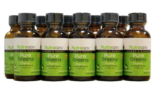 10 Pure Greens Travel Bottles