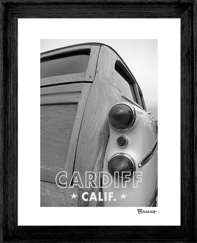 CARDIFF ~ '42 BUICK WOODIE ~ FRAMED PRINT ~ MAT ~ 16x20
