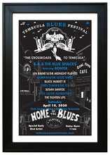 Load image into Gallery viewer, TEMECULA BLUES FESTIVAL ~ 2020 ~ BLACK FRAMED PRINT ~ 12x18