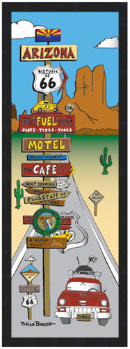 ROUTE 66 PITSTOPS ~ ARIZONA ~ 8x24