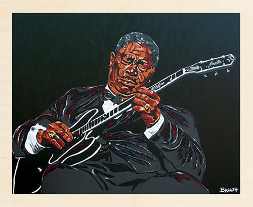 HWY101BLUES ~ BB KING ~ BLUES BOY ~ BIRCH WOOD PRINT ~ 11x14