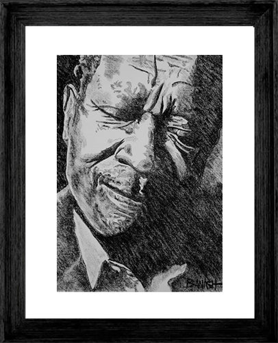BB KING ~ BLUES GRIN ~ 16x20