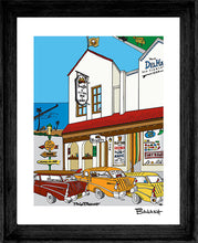 Load image into Gallery viewer, SAN CLEMENTE ~ BEACHFIRE BAR & GRILL ~ MAT ~ FRAME ~ 16x20