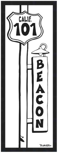 BEACON ~ TOWN SURF SIGN ~ 8x24