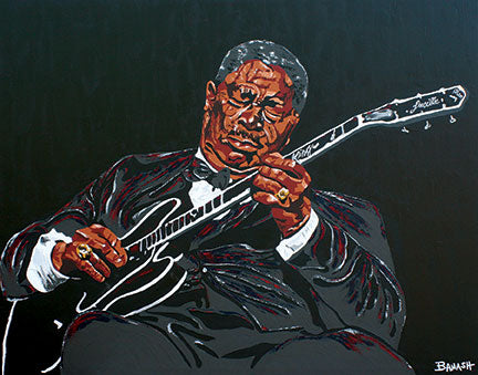 BB KING ~ BLUES BOY ~ CANVAS PRINT ~ 16x20