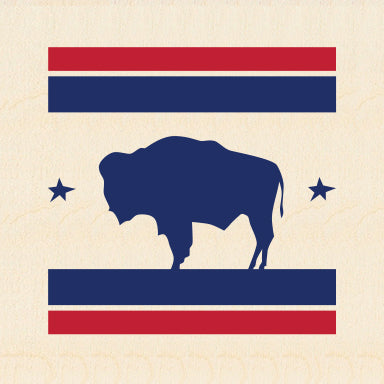 BUFFALO ~ COMP STRIPE ~ 6x6