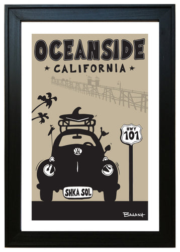 OCEANSIDE ~ BUG GRILL ~ 12x18