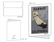 Load image into Gallery viewer, CARDIFF ~ CALIF STATE ~ 10 BLANK CARDS ~ 5x7