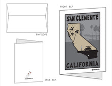 Load image into Gallery viewer, SAN CLEMENTE ~ 10 BLANK CARDS ~ 5x7