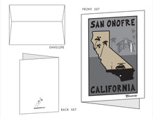 Load image into Gallery viewer, SAN ONOFRE ~ OLD MANS SHACK ~ 10 BLANK CARDS ~ 5x7