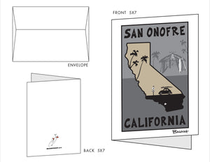 SAN ONOFRE ~ OLD MANS SHACK ~ 10 BLANK CARDS ~ 5x7