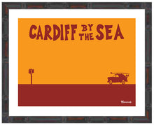 Load image into Gallery viewer, CARDIFF BY THE SEA ~ CATCH A SURF ~ BAMBOO FRAMED PRINT ~ 11x14