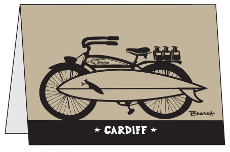 CARDIFF ~ SURF • BEER • STOKE ~ 10 BLANK CARDS ~ 5x7