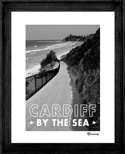 CARDIFF BY THE SEA ~ RAMP ~ BLACK FRAMED PRINT ~ 16x20