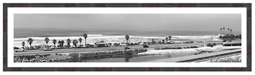 CARDIFF REEF RR ~ BAMBOO FRAMED PRINT ~ 5x24