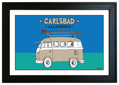 CARLSBAD ~ CALIF STYLE SURF BUS ~ 12x18