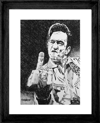 JOHNNY CASH ~ FOLSOM BIRD ~ 16x20