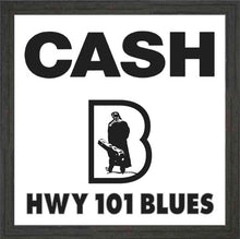 Load image into Gallery viewer, HWY101BLUES ~ JOHNNY CASH ~ BLUES LOGO ~ FRAME