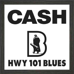 HWY101BLUES ~ JOHNNY CASH ~ BLUES LOGO ~ FRAME