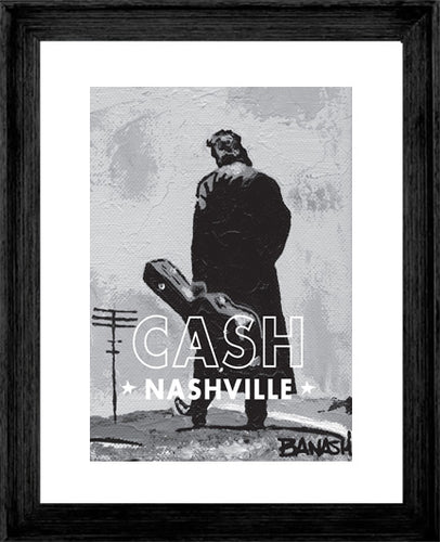 JOHNNY CASH ~ CASH ~ NASHVILLE ~ 16x20