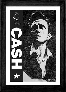 JOHNNY CASH ~ CASH ~ YOUNG MAN BLUES ~ 12x18