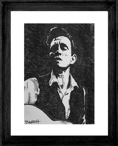 JOHNNY CASH ~ YOUNG MAN BLUES ~ 16x20