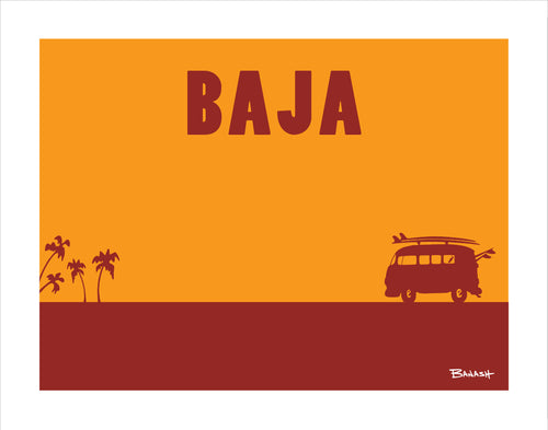 BAJA CALIFORNIA ~ CATCH A SURF ~ SURF BUS ~ PRINT ~ 11x14